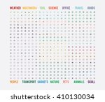 big universal simple sorted ... | Shutterstock .eps vector #410130034
