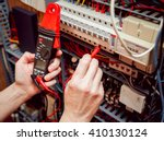 electrical equipment. tester in ... | Shutterstock . vector #410130124