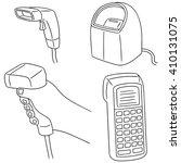 vector set of barcode reader | Shutterstock .eps vector #410131075