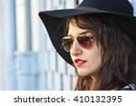 portrait of woman with... | Shutterstock . vector #410132395