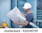 portrait of an architect... | Shutterstock . vector #410140759