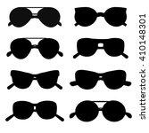 sunglasses silhouette accessory ... | Shutterstock .eps vector #410148301