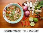 hot   spicy soup with pork and... | Shutterstock . vector #410152039