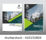 green annual report brochure...   Shutterstock .eps vector #410152804