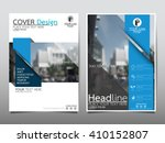 blue annual report brochure... | Shutterstock .eps vector #410152807