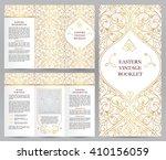 ornate vintage booklet with... | Shutterstock .eps vector #410156059