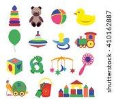 vector illustration of baby's... | Shutterstock .eps vector #410162887