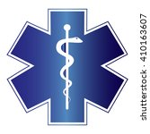 medical symbol of the emergency.... | Shutterstock .eps vector #410163607