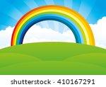vector illustration. rainbow... | Shutterstock .eps vector #410167291
