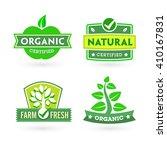 set of organic bio labels on... | Shutterstock .eps vector #410167831