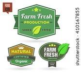 set of organic bio natural ... | Shutterstock .eps vector #410167855