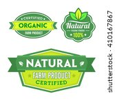 set of organic bio labels on...   Shutterstock .eps vector #410167867
