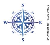 illustration of a compass rose | Shutterstock .eps vector #410169571