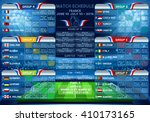 cup euro final match schedule.... | Shutterstock .eps vector #410173165