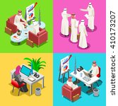 arab saudi man businesspeople... | Shutterstock .eps vector #410173207