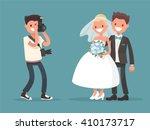 Newlyweds Photographing . Bride ...