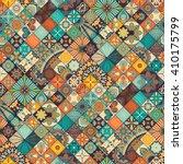 seamless pattern. vintage... | Shutterstock .eps vector #410175799