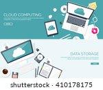 Cloud Computing Illustration...
