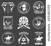 set of wild west cowboy... | Shutterstock . vector #410181355