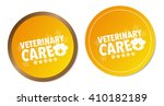 veterinary care stickers | Shutterstock .eps vector #410182189