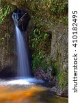 small but beautiful waterfall  | Shutterstock . vector #410182495