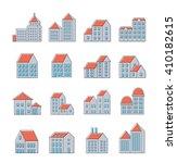 vector set of linear urban... | Shutterstock .eps vector #410182615