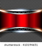 3d background with red metal... | Shutterstock .eps vector #410194651