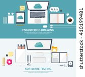 cloud computing illustration... | Shutterstock .eps vector #410199481