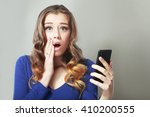 young woman dismayed at... | Shutterstock . vector #410200555