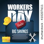 may 1st labor day workers day... | Shutterstock .eps vector #410207611