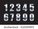 vector metal numbers.silver... | Shutterstock .eps vector #410209891