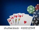 gambling chips and poker card... | Shutterstock . vector #410212549