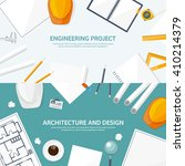 engineering and architecture... | Shutterstock .eps vector #410214379