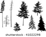 illustration with fir set... | Shutterstock . vector #41022298