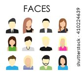 flat faces for avatars or... | Shutterstock .eps vector #410224639