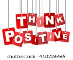 think positive  red vector...