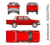 pickup truck double cab vector... | Shutterstock .eps vector #410227951