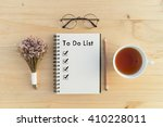 opened notebook with to do list ... | Shutterstock . vector #410228011