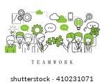 teamwork concept  business... | Shutterstock .eps vector #410231071