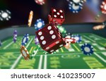 close up view of a craps table...