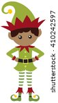 elf boy dark | Shutterstock .eps vector #410242597