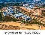 industrial estate land... | Shutterstock . vector #410245237
