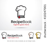 recipe book logo template... | Shutterstock .eps vector #410247001