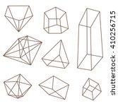 frame geometric shapes. set of... | Shutterstock .eps vector #410256715