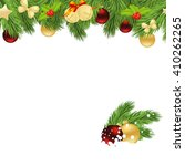holiday background with fir... | Shutterstock . vector #410262265
