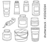 vector set of color container | Shutterstock .eps vector #410263264