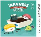 vintage sushi poster design... | Shutterstock .eps vector #410264509