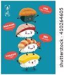 vintage sushi poster design... | Shutterstock .eps vector #410264605