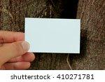 man holding empty paper in... | Shutterstock . vector #410271781