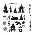 thailand culture objects ... | Shutterstock .eps vector #410272375